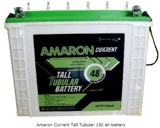 amaron current tall tubular 150 ah
