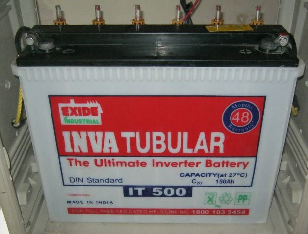 IT500 Exide Inva tubular battery