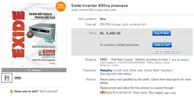 exide home inverter price 5600