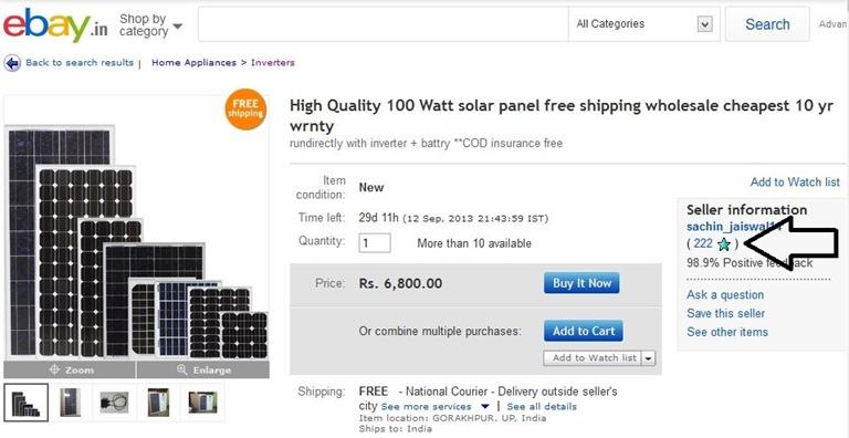 online solar panels