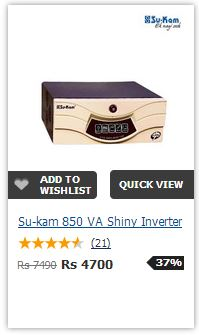 sukam Shiny 850VA PureSineWave
