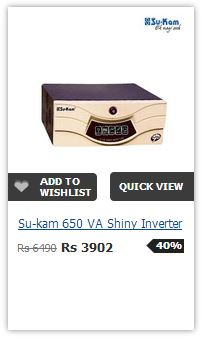 Sukam Shiny 650VA PureSineWave