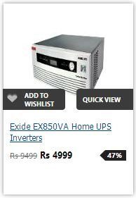 Buy Exide 850VA PureSineWave